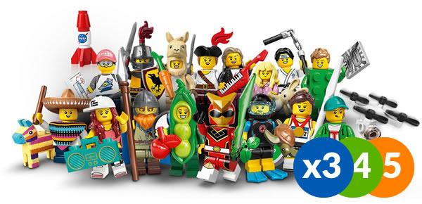 71027 LEGO Collectible Minifigures Series 20 : détail de la répartition dans une boite de 60 sachets