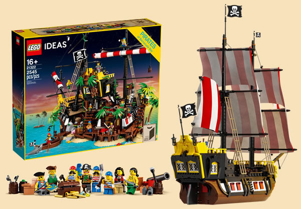LEGO Ideas 21322 Pirates of Barracuda Bay : le set est disponible sur le Shop LEGO