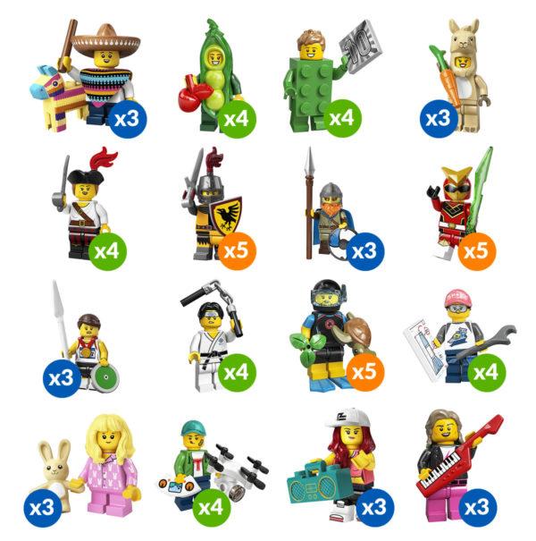 lego 71027 full box series quantities minifigures blind bag