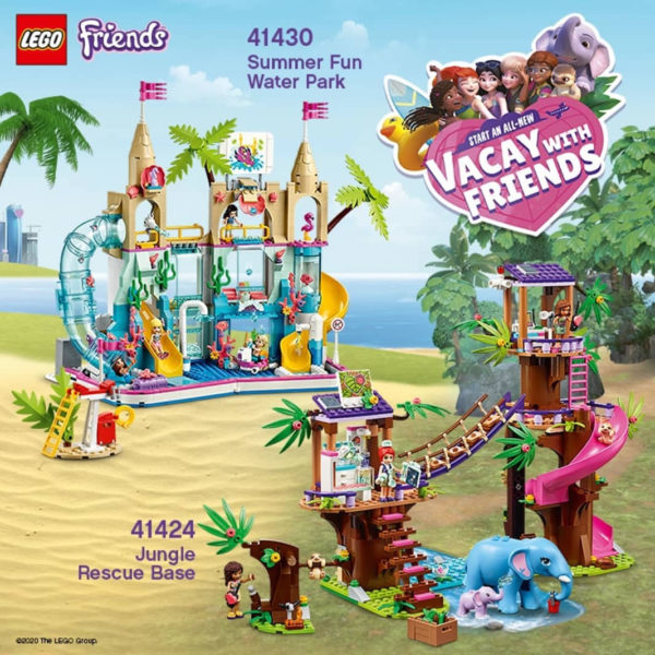 Nouveautés LEGO Friends du second semestre 2020 : 41424 Jungle Rescue Base & 41430 Summer Fun Water Park