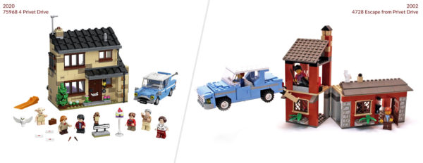 lego harry potter 75968 4 privet drive 2020 vs 4728 privet drive 2002