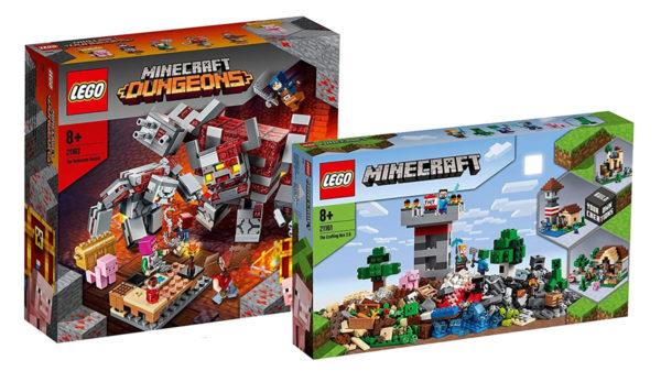 Nouveautés LEGO Minecraft 2020 : les visuels officiels des sets 21161 The Crafting Box 3.0 et 21163 The Redstone Battle