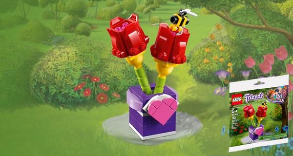 Sur le Shop LEGO : Le polybag LEGO Friends 30408 Tulips offert dès 35 € d'achat