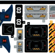 76162 lego marvel black widow helicopter chase sticker sheet