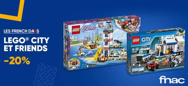 FNAC.com : 20% de réduction immédiate sur LEGO CITY et Friends