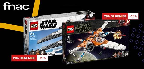 Sur Fnac.com : 20% de réduction immédiate sur une sélection de sets LEGO Star Wars