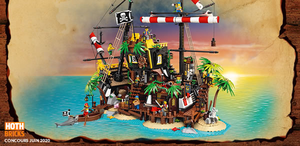Concours : le set LEGO Ideas 21322 Pirates of Barracuda Bay à gagner !