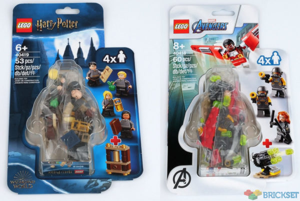 Nouveautés LEGO Character Packs 2020 : 40418 Falcon and Black Widow & 40419 Hogwarts Students