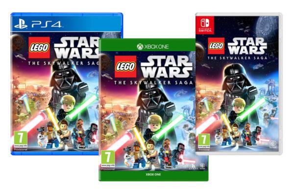 lego starwars skywalker saga video game covers ps4 xbox switch