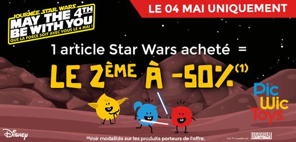 May the 4th chez PicwicToys : -50% sur le second produit Star Wars