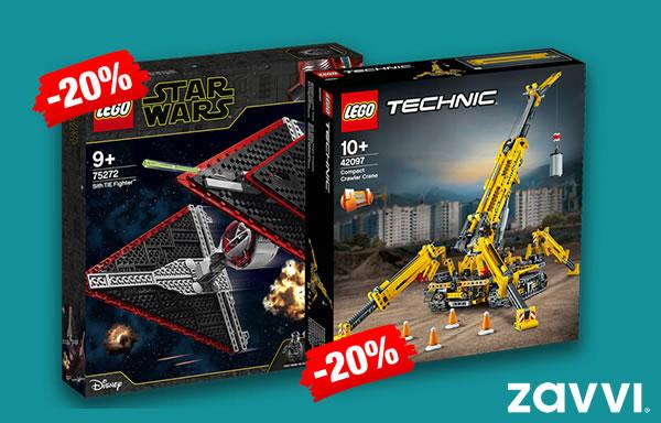 Chez ZAVVI : 20% de réduction immédiate sur une sélection de sets LEGO