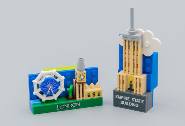 Très vite testés : Magnets LEGO 854012 London et 854030 Empire State Building