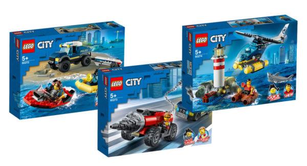 Nouveautés LEGO CITY 2020 : les visuels officiels de trois nouvelles boites sur le thème policiers/voleurs