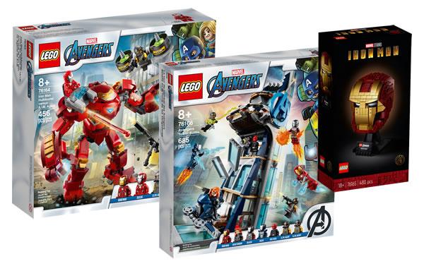 new lego marvel summer 2020 avengers tower helmet hulkbuster