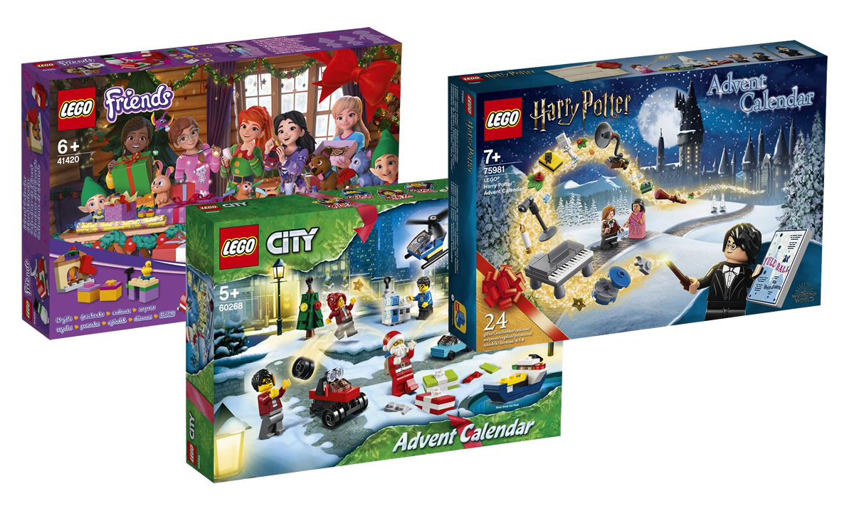 ▷ Calendriers de l'Avent LEGO CITY, Friends et Harry Potter 2020
