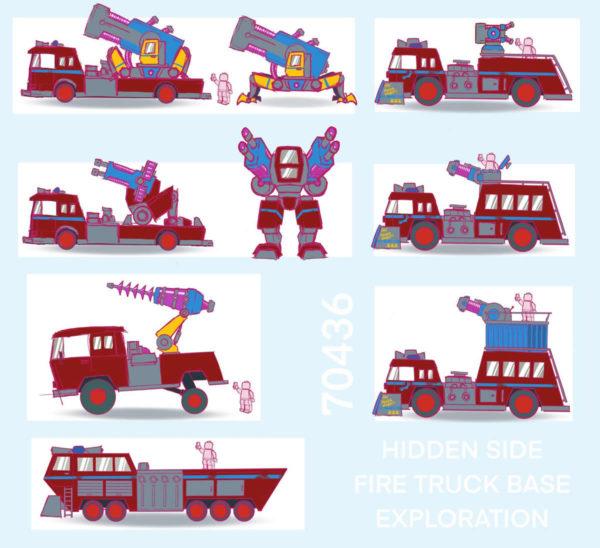 70436 lego hidden side phantom fire truck 3000 preliminary sketches