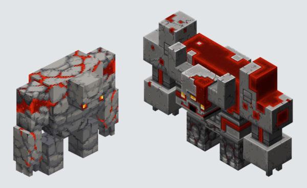 Minecraft Dungeons Redstone Golem & Redstone Monstrosity