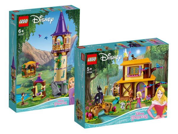 Nouveautés LEGO Disney Princess : 43187 Rapunzel's Tower et 43188 Aurora's Forest Cottage