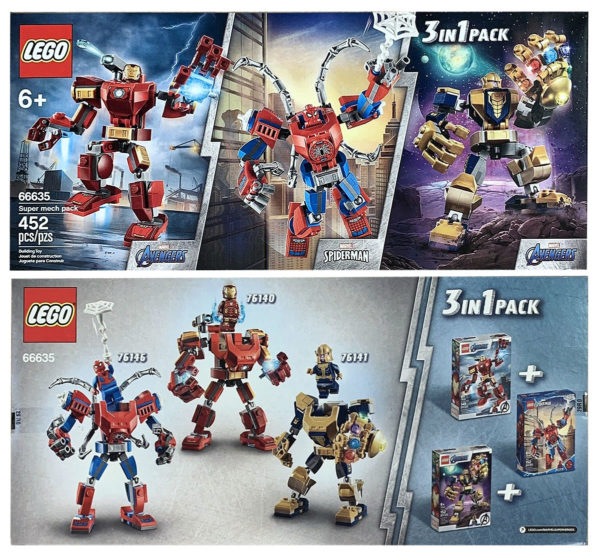 Nouveau pack LEGO Marvel 3-en-1 : 66635 Super Mech Pack