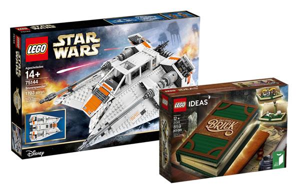 Sur le Shop LEGO : Les sets 75144 UCS Snowspeeder et 21315 Pop-up Book disponibles pour les membres VIP