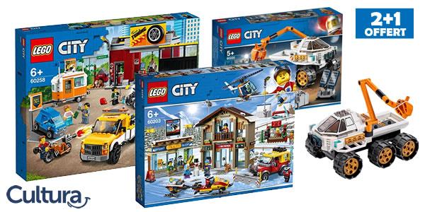 Chez Cultura : 2 sets LEGO CITY achetés, le 3ème offert