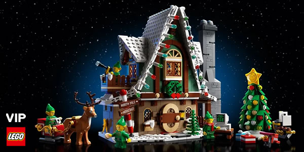 Sur le Shop LEGO : le set Winter Village 10275 Elf Club House est disponible