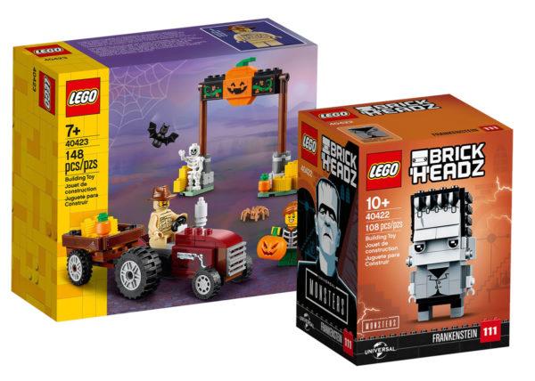 Sur le Shop LEGO : les sets 40423 Halloween Hayride et 40422 Frankenstein sont disponibles