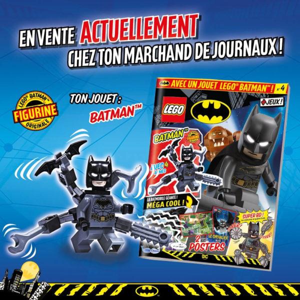En kiosque : Le nouveau numéro du magazine officiel LEGO Batman