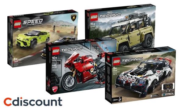 LEGO Car Festival chez Cdiscount : 20% de réduction immédiate sur une sélection de sets