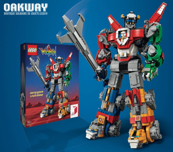 Chez Oakway.fr : Le set LEGO Ideas 21311 Voltron Defender of the Universe est disponible et à son prix public habituel