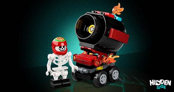 Sur le Shop LEGO : le polybag LEGO Hidden Side 30464 El Fuego's Stunt Cannon est offert dès 35 € d'achat