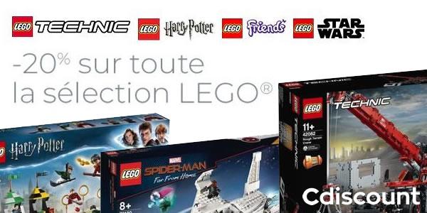 Chez Cdiscount : 20% de réduction immédiate sur une sélection de sets LEGO