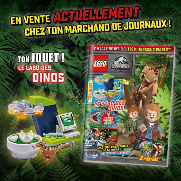 En kiosque : Le nouveau numéro du magazine officiel LEGO Jurassic World