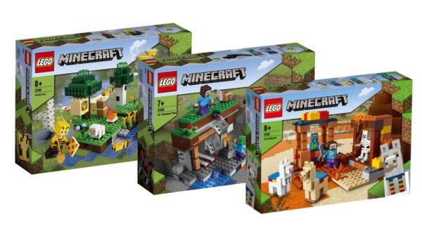 Nouveautés LEGO Minecraft 2021 : premiers visuels des sets prévus