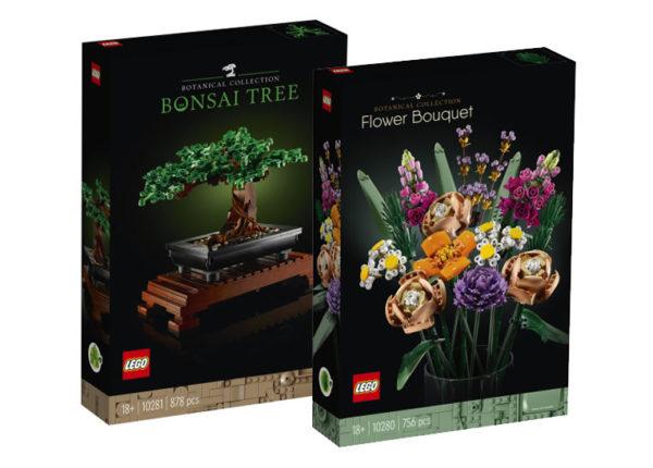 LEGO Botanical Collection : premiers visuels des sets 10280 Flower Bouquet et 10281 Bonsaï Tree