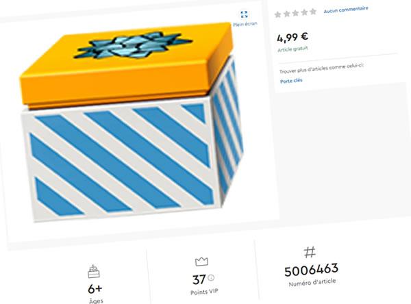 Sur le Shop LEGO : un porte-clés mystère (5006463) offert