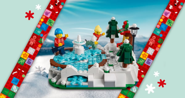 Sur le Shop LEGO : Le set 40416 LEGO Ice Skating Rink Limited Edition offert dès 150 € d'achat