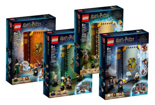 """Nouveautés LEGO Harry Potter 2021 : les quatre livres """"Hogwarts Moment"""" sont en ligne"""
