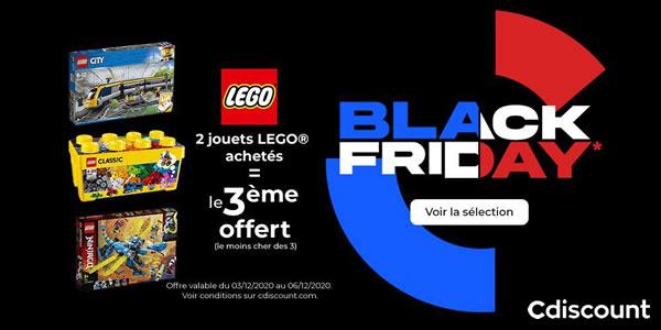 Black Friday 2020 : 2 sets LEGO achetés, le 3ème offert chez Cdiscount