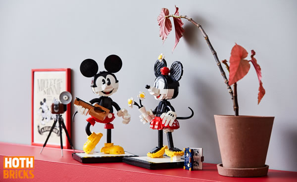 LEGO 43179 Mickey Mouse & Minnie Mouse Buildable Characters