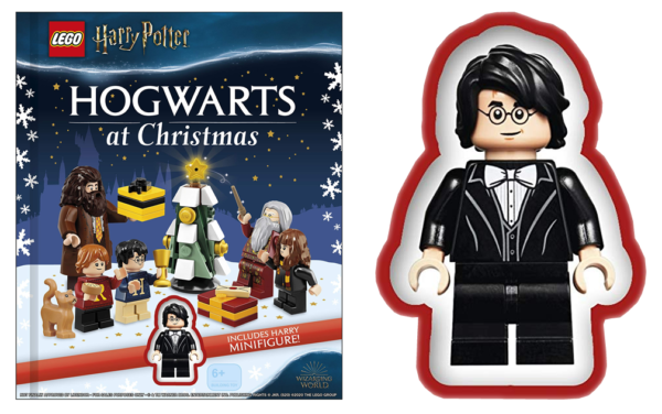 lego harry potter hogwarts christmas book 2021 minifigure harry.fw
