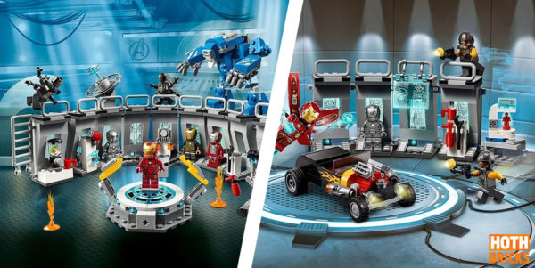 LEGO Marvel 76125 Iron Man Hall of Armor & 76167 Iron Man Armory