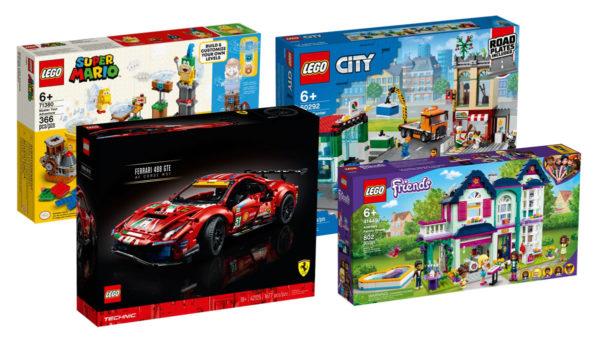 Sur le Shop LEGO : les nouveautés 2021 LEGO Super Mario, Technic, CITY & Friends sont disponibles