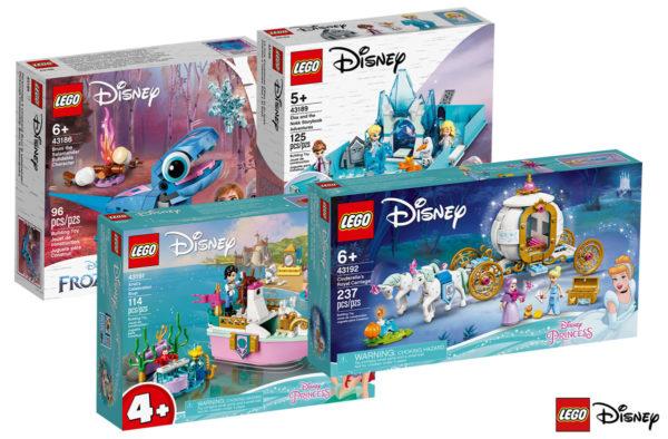 Nouveautés LEGO Disney 2021 : Frozen 2, Cendrillon et la Petite Sirène au programme