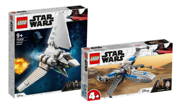 LEGO Star Wars 75302 Imperial Shuttle & 75297 Resistance X-wing Fighter