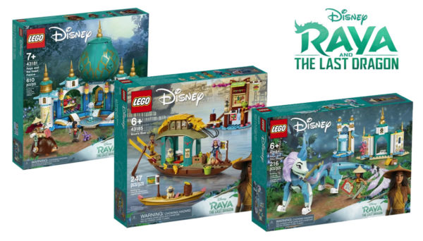 Raya and The Last Dragon : les visuels officiels des sets LEGO Disney basés sur le film d'animation