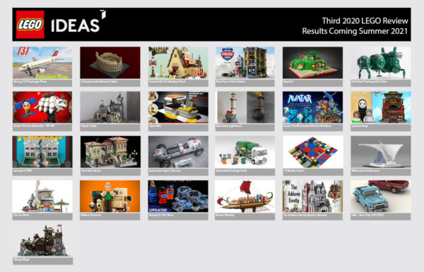 LEGO Ideas Third 2020 Review Phase