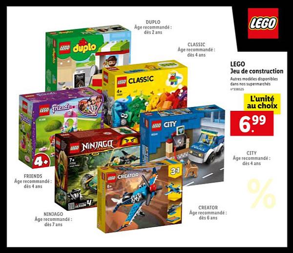 Dès le 7 janvier 2021 : quelques produits LEGO en promo chez LIDL