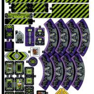 80022 lego monkie kid spider queen arachnoid base sticker sheet