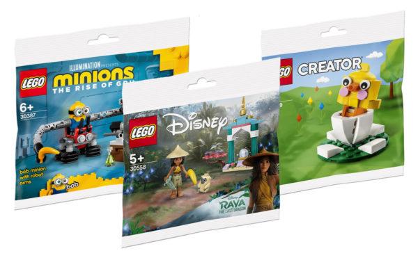 new lego polybags 2021 minions raya creator marvel dccomics super mario